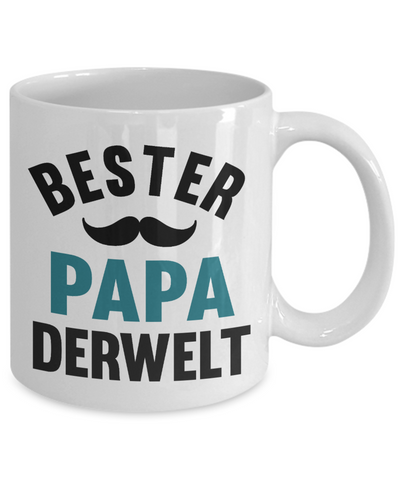 Bester Papa Derwelt Mug Gift German Best Dad in The World Father's Coffee Cup