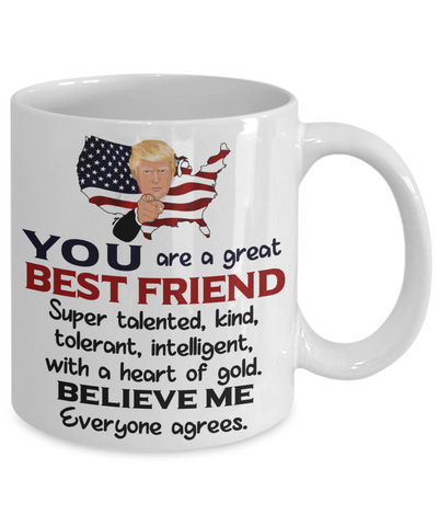 Funny Best Friend Trump Mug Gift Heart of Gold Novelty Coffee Cup