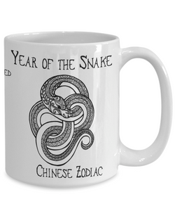 Chinese Zodiac Gift, Year of the Snake Chinese Zodiac Snake Gift Mug
