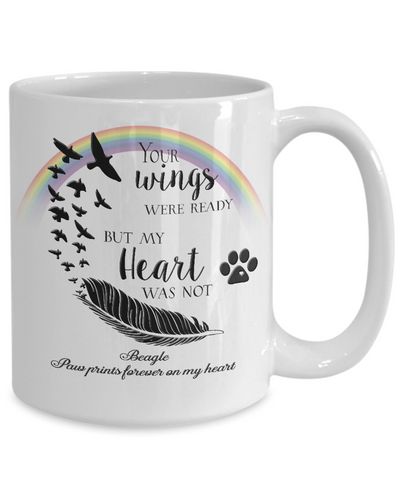 Image of Beagle Bereavement Memorial Gifts Your Wings Were Ready... Beagle Bereavement Gift