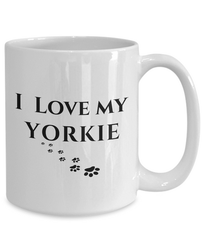 Image of I Love My Yorkie Mug Yorkshire Terrier Dog Lover Novelty Birthday Gifts Unique  Cup Gifts