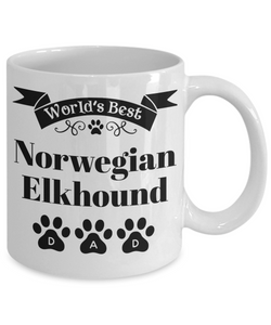 World's Best Norwegian Elkhound Dog Dad Mug Fun Novelty Birthday Gift Work Coffee Cup