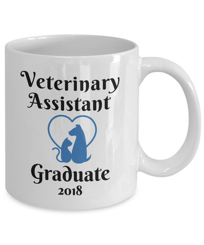 Vet Assistant 2018 Graduate Mug Veterinary Clinic Graduation Gifts Novelty New Veterinarian Graduation Coffee Cup