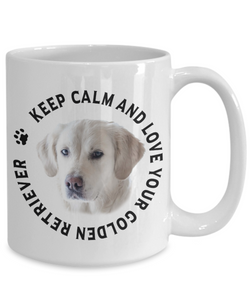Keep Calm and Love Your Golden Retriever Ceramic Mug Gift for Dog Lovers