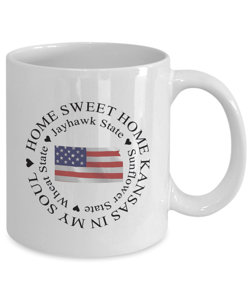 Kansas Gift, Home Sweet Home Kansas In My Soul USA Gifts Coffee Mug