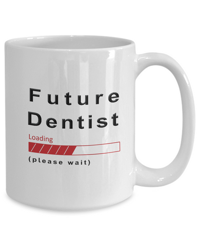 Image of Funny Future Dentist Coffee Mug Cup Gifts for Men  and Women