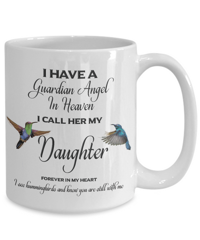 Image of Daughter Memorial Gift I Have a Guardian Angel... Daughter Remembrance Gifts