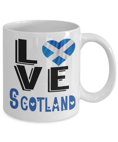 Image of Love Scotland Mug Gift Novelty Scottish Keepsake Coffee Cup