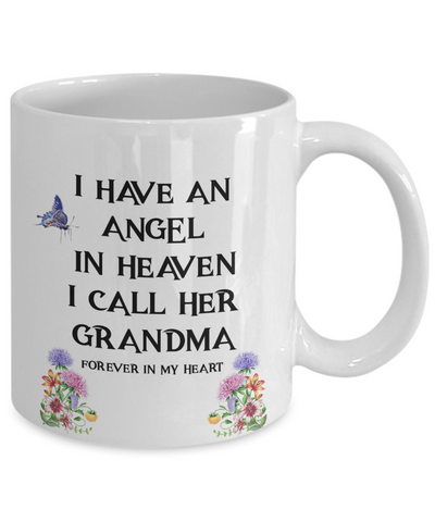 "Image of Memorial Gift, ""I Have an Angel In Heaven, I Call Her My Grandma Remembrance  Gift"