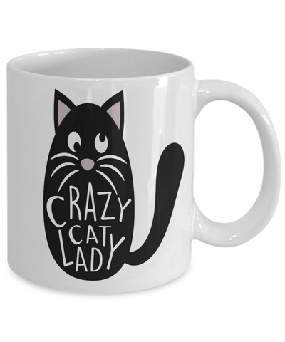 Image of Cat Enthusiast Gift Crazy Cat Lady Cup Funny Cat Coffee Mug Gift for Cat Lovers