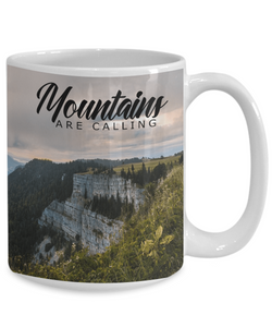 Mountains Are Calling Coffee Mug for Campers Hikers Outdoor Enthusiasts