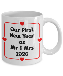 Our First New Year Married Mug Gift Mr & Mrs 2020 Gift for Newlyweds