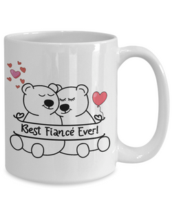 Gift for Fiancé,  Best Fiancé Ever, I Heart You, Fiancé Gifts, Valentine's Day Gift