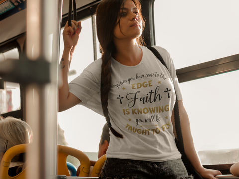 Taught to Fly Faith Shirt Gift Inspirational Christian Novelty T-Shirt