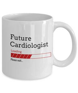 Funny Future Cardiologist Loading Please Wait Ceramic Coffee Mug Doctors In Training Gifts for Men and Women