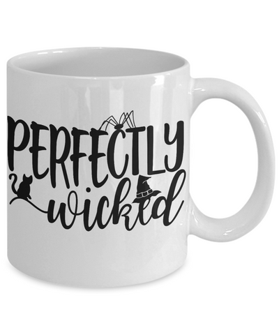 Halloween Perfectly Wicked Witch Mug Funny Gift Spooky Haunted Novelty Coffee Cup