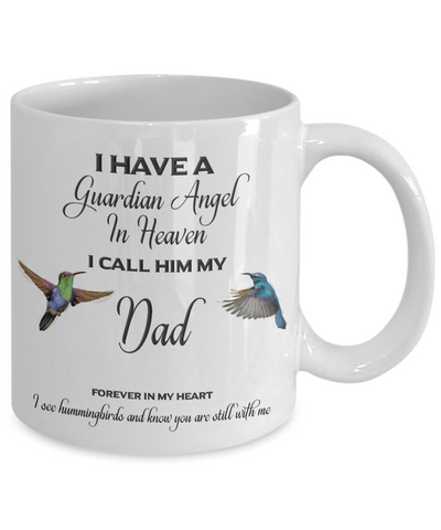 Image of Dad Memorial Gift I Have a Guardian Angel... Dad Remembrance Gifts