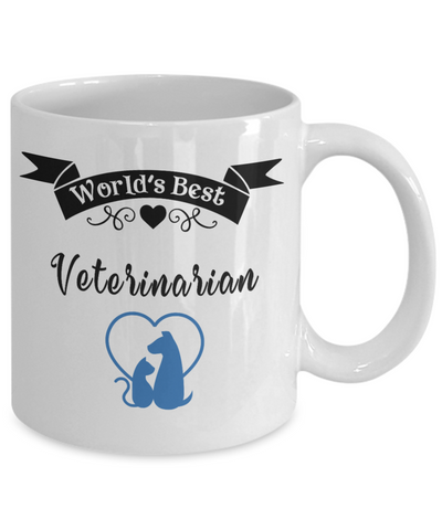 World's Best Veterinarian Mug for Vet Unique Novelty Birthday Christmas Gifts Ceramic Coffee Cup for Men Women