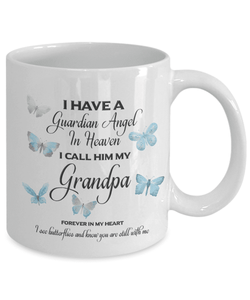 Memorial Gift, Guardian Angel in Heaven, My Grandpa Remembrance Gifts