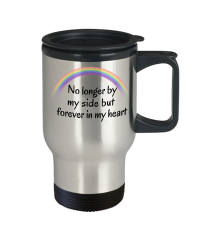 Image of In Memory of My Dog Cat Travel Mug With Lid No Longer By My Side Pet Bereavement  Remembrance Gifts