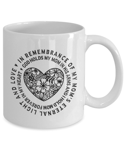 Image of Remembrance Gifts For Mom,  God Holds My Mom In His Arms And I Hold Mom... Mom Memorial Gift