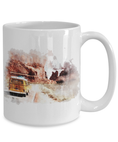 Image of Mountains Are Calling Travel Camping Ceramic Coffee Mug Gift