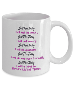 Reiki Prayer Coffee Mug Gift 5 Principles of Reiki Gift Coffee Mug Positive Mantra Gift Cup