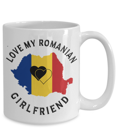 Love My Romanian Girlfriend Mug Novelty Birthday Gift for Partner Ceramic Coffee Cup