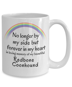 Redbone Coonhound Memorial In Memory of Pet Remembrance Gifts