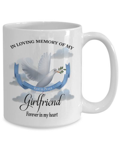 Image of Girlfriend Memorial Remembrance Mug Forever in My Heart In Loving Memory Bereavement Gift for Support and Strength Coffee Cup