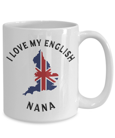 Image of I Love My English Nana Mug Novelty Birthday Gift Ceramic Coffee Cup