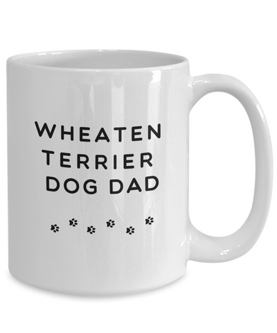 Best Wheaten Terrier Dog Dad Cup Unique Ceramic Coffee Mug Gifts  for Men