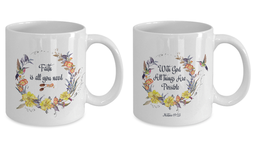 "Stunning Scripture Gifts, ""With God all things are possible"" and ""Faith is All You Need""Gift set"