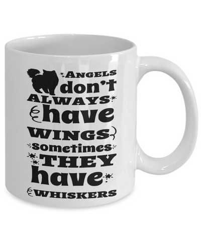 Cat Mom Mug Angels Have Whiskers Coffee Cup