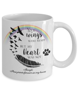 Beagle Bereavement Memorial Gifts Your Wings Were Ready... Beagle Bereavement Gift