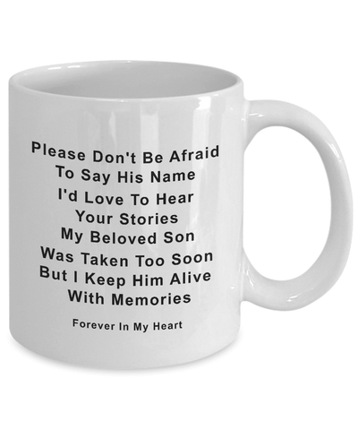 Image of Son Memorial Gifts Memory of Son Please Don't be Afraid...Son Remembrance Gifts