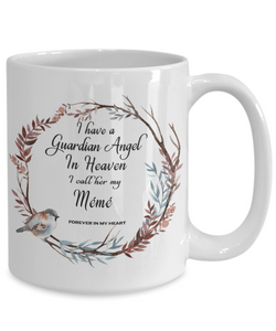 In Remembrance Gift Mug Guardian Angel in Heaven I Call Her My Mémé  Grandmother Ceramic Cup