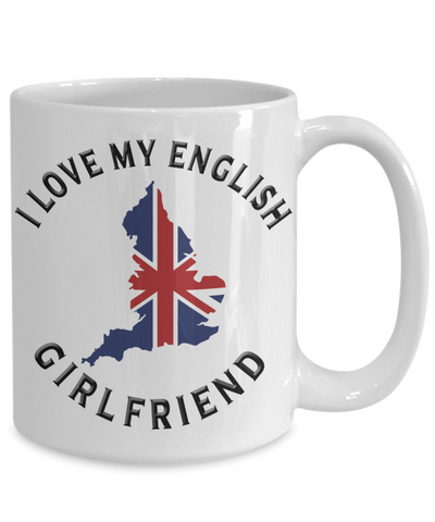 Image of I Love My English Girlfriend Mug Novelty Birthday Gift Ceramic Coffee Cup