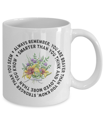 "Image of ""Always Remember You Are Braver Than You Know.."" Inspirational gift"