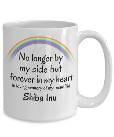 Image of Shiba Inu Memorial Gift Dog Mug No Longer By My Side But Forever in My Heart Cup In Memory of Pet Remembrance Gifts