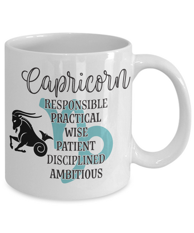 Image of Capricorn Zodiac Mug Gift Fun Novelty Birthday Coffee Cup