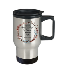 Guardian Angel in Heaven I Call Her My Wife Forever in My Heart for in Memory Travel Cup
