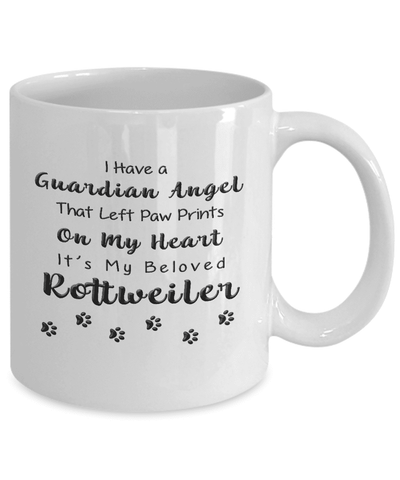 Image of Rottweiler Memorial Gift,  I Have a Guardian Angel... Rottweiler, Pet Remembrance Gift