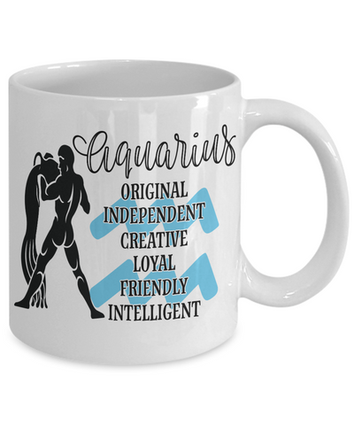 Aquarius Zodiac Mug Gift Fun Novelty Birthday Coffee Cup