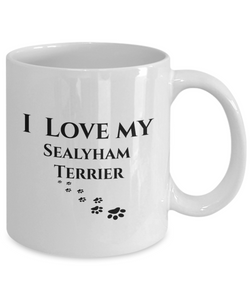 I Love My Sealyham Terrier Mug Dog Mom Dad Lover Novelty Birthday Gifts Unique Coffee Mug Gifts