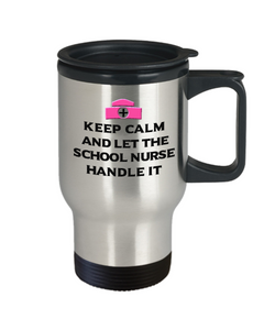 Keep Calm I'm a Nurse Practitioner Travel Mug Funny Nursing Gift Coffee Cup