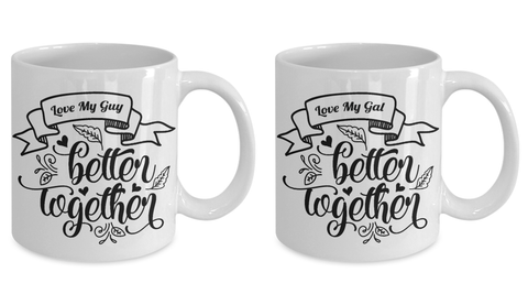Funny Couples Gifts Love My Gal Guy Better Together Romantic Couple Gifts Engagement Wedding Moving-in Together Gifts
