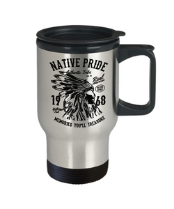 US Patriotic Gifts Native American Pride Cups Unique Coffee Travel Mug Gift For Men Women