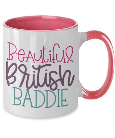 Image of Beautiful British Baddie Mug Two-Toned Ceramic Coffee Cup