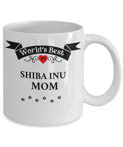 Image of World's Best Shiba Inu Mom Cup Unique Ceramic Dog Coffee Mug Gifts for Women